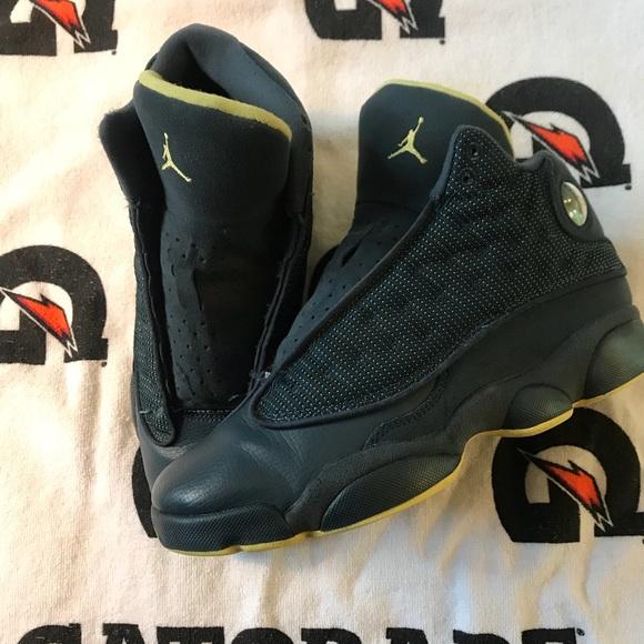 Details about Nike Air Jordan XIII 13 Retro Size 7Y Squadron Blue Volt 414574 405